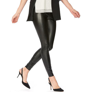 Hue Sleek Effects Leatherette High Rise Leggings