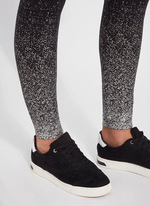 Silver Ombre Cotton Foil Leggings - Lysse