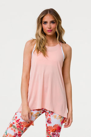 Tie Back Tank - Light Peach - Onzie Flow