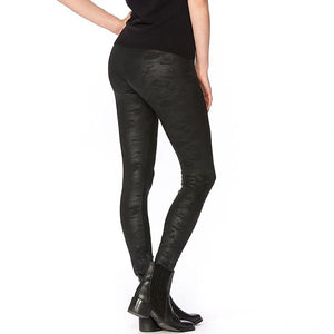 Hue Sleek Effects Camo Leatherette High Rise Leggings