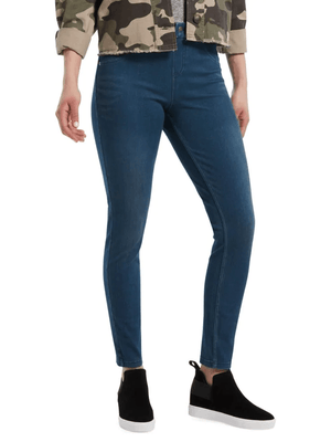 Hue Ultra Soft High Waist Denim Steely Blue