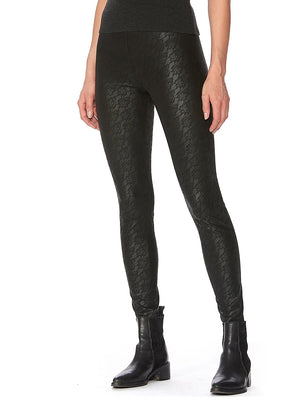 Hue Sleek Effects Lacy Leatherette High Rise Leggings