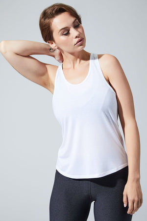 Shock White Layering Tank - MPG Sport