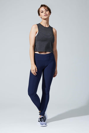 Revitalize High Waist Navy Legging - MPG Sport