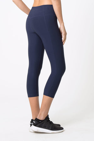 Dare High Waist Navy Capri - MPG Sport
