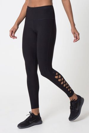 Interlace Legging with Lace Details - MPG Sport