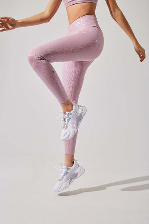 Strive Pink Cheetah Print High Waisted Leggings - MPG Sport