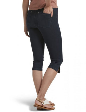 Hue Ultra Soft High Waist Denim Short Capri Legging