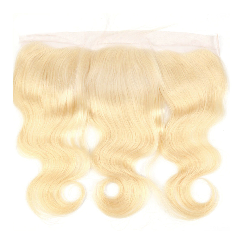 Blonde body wave frontal 613 color 13x4inch human hair lace frontal blonde