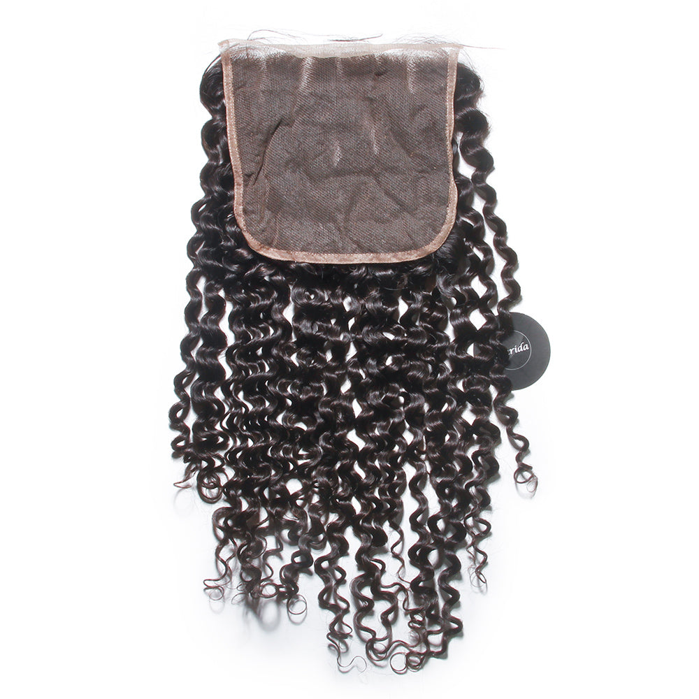 Curly hair 6X6 lace closure wholesale brazilian malaysian virgin curly pattern closure