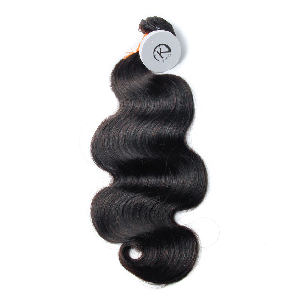 Super double draw body wave virgin human hair bundles unprocessed full and thick
