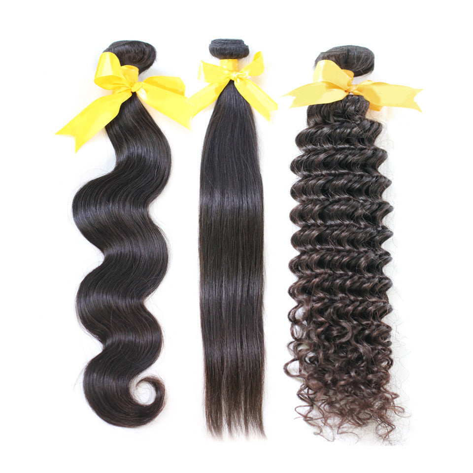 Sample package 3bundles 10inch,a body wave+a straight+a deep wave