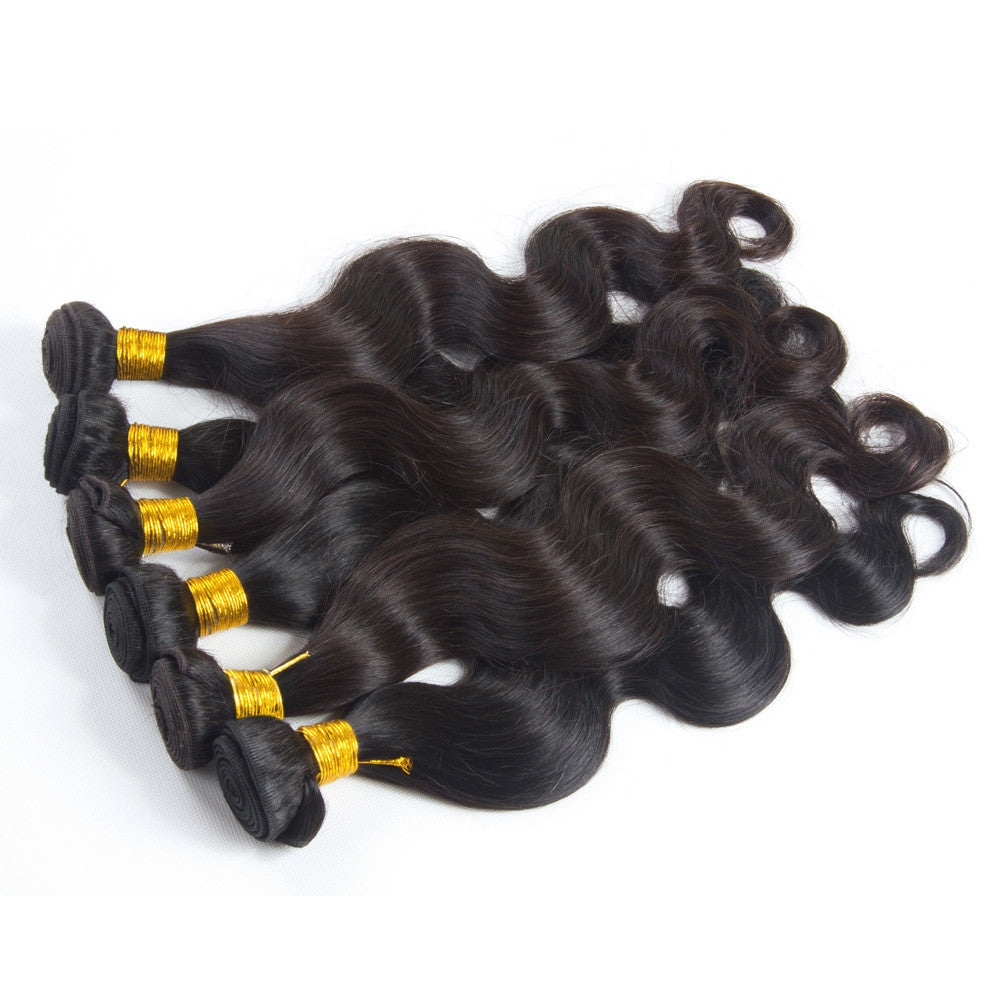 5Bundles body wave brazilian virgin hair double weft human hair weave