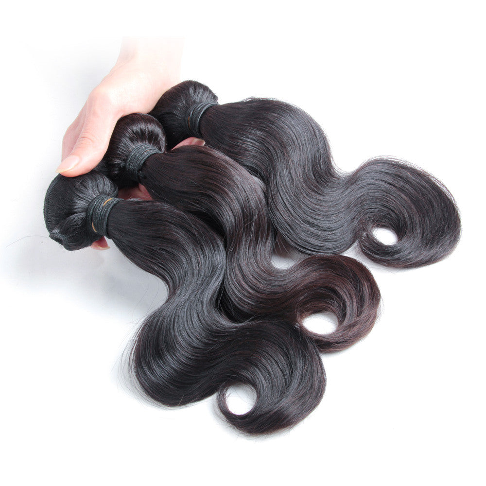 3Bundle malaysian body wave unprocessed virgin malaysian hair bundles wholesale