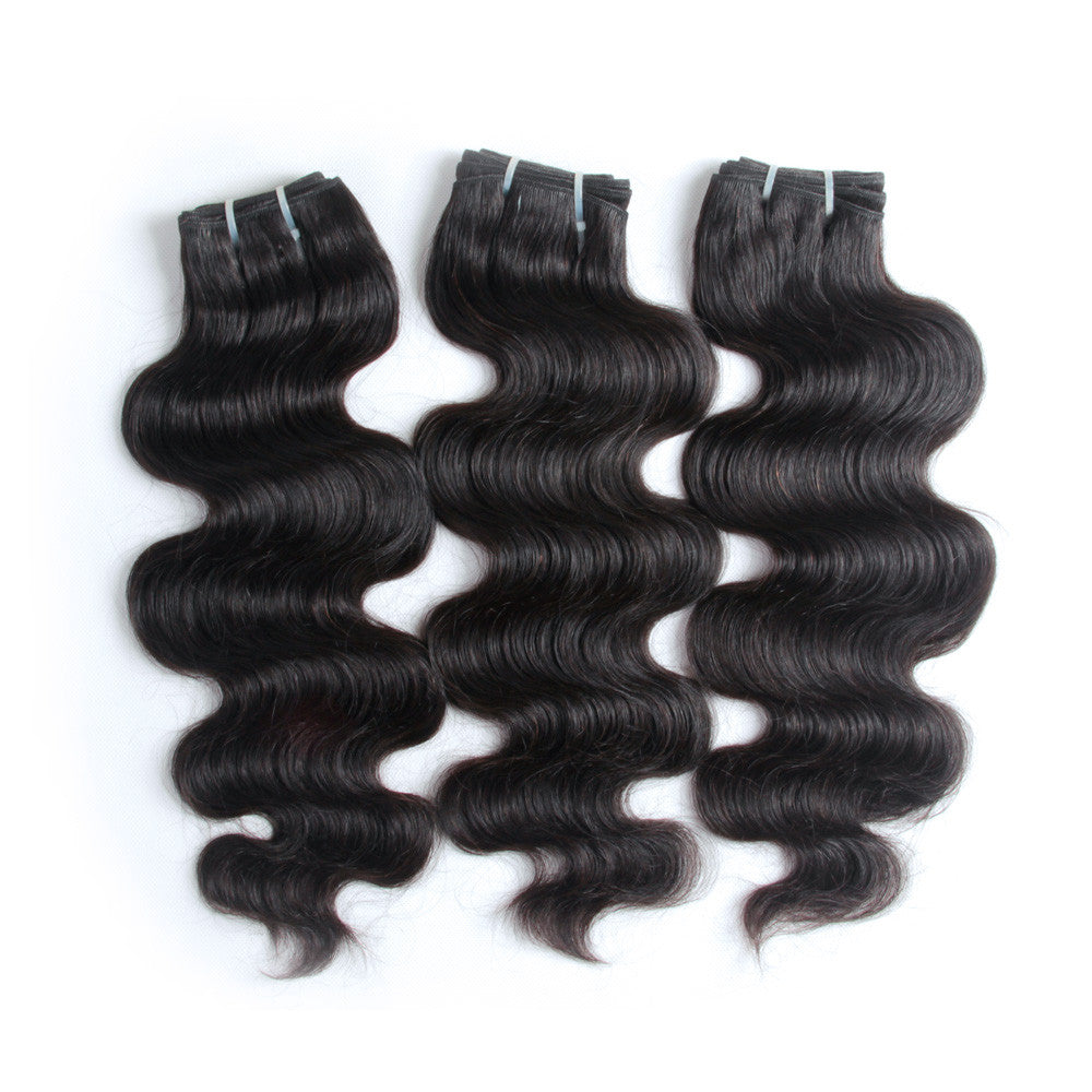 3Bundle body wave wholesale pure indian mink hair virgin human hair weft