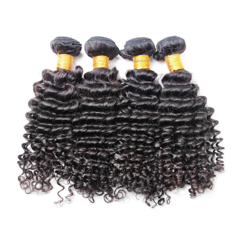 4Bundles brazilian deep wave virgin hair human hair weave extensions