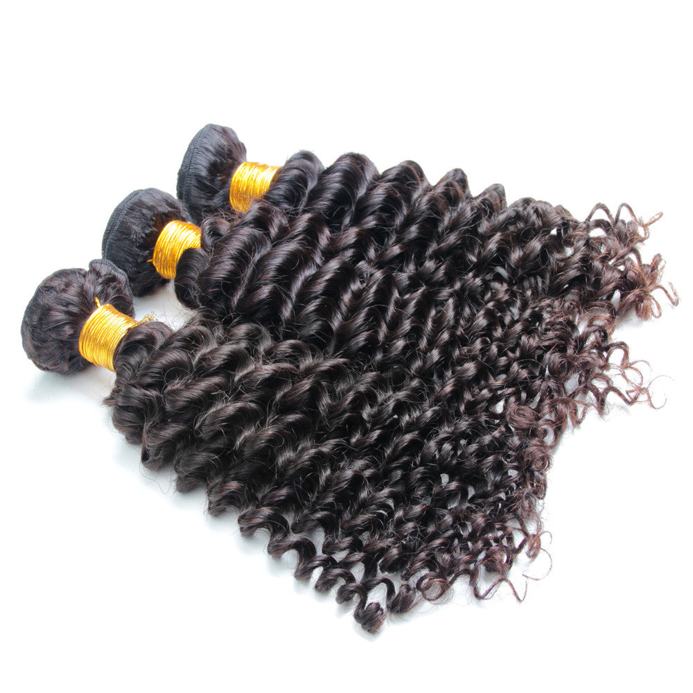 3Bundles Brazilian deep wave virgin hair extension unprocessed no tangle