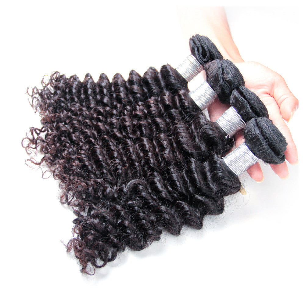 4Bundles top quality peruvian human hair deep wave virgin Karida hair