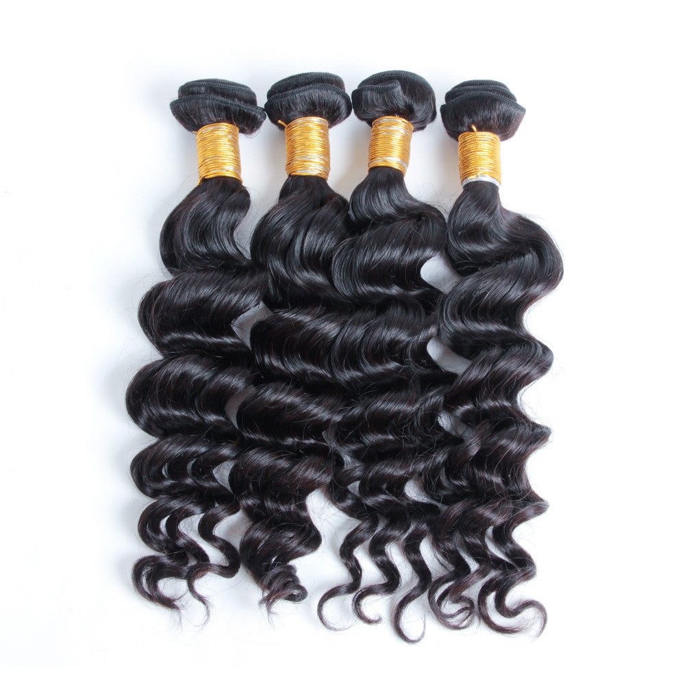 4Bundles natural wave unprocessed virgin brazilian peruvian hair bundles