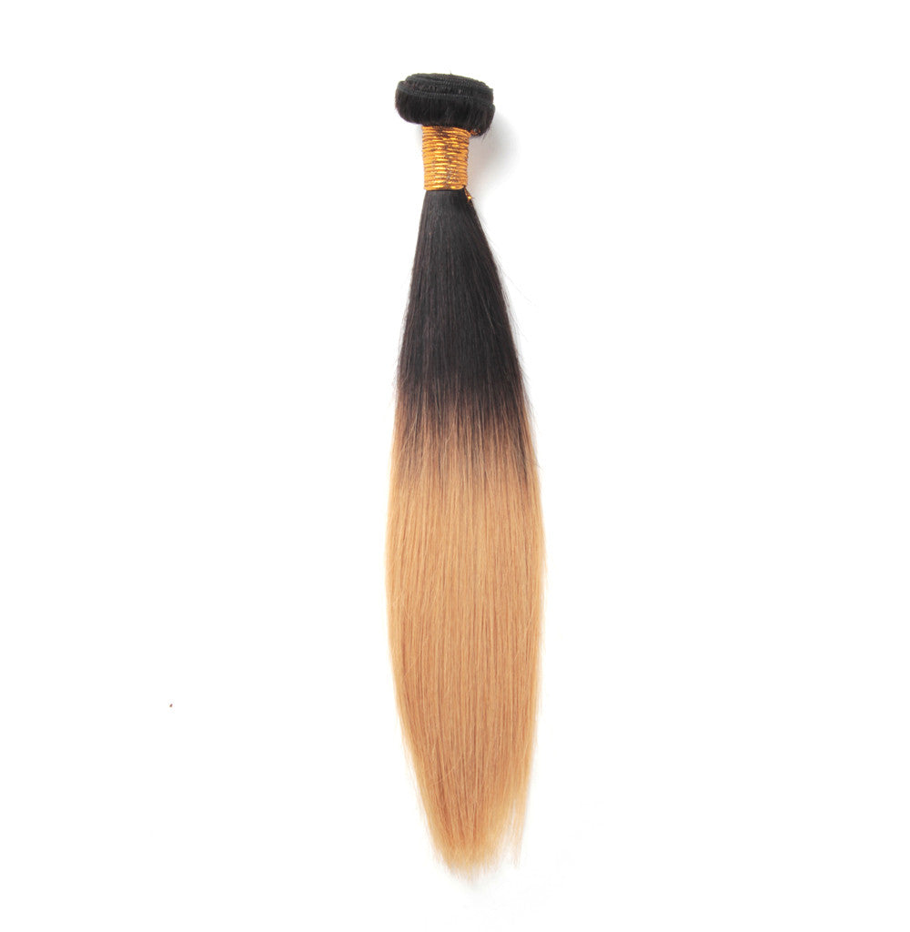 Ombre blonde #27 straight hair weaves wholesale price ombre brazilian