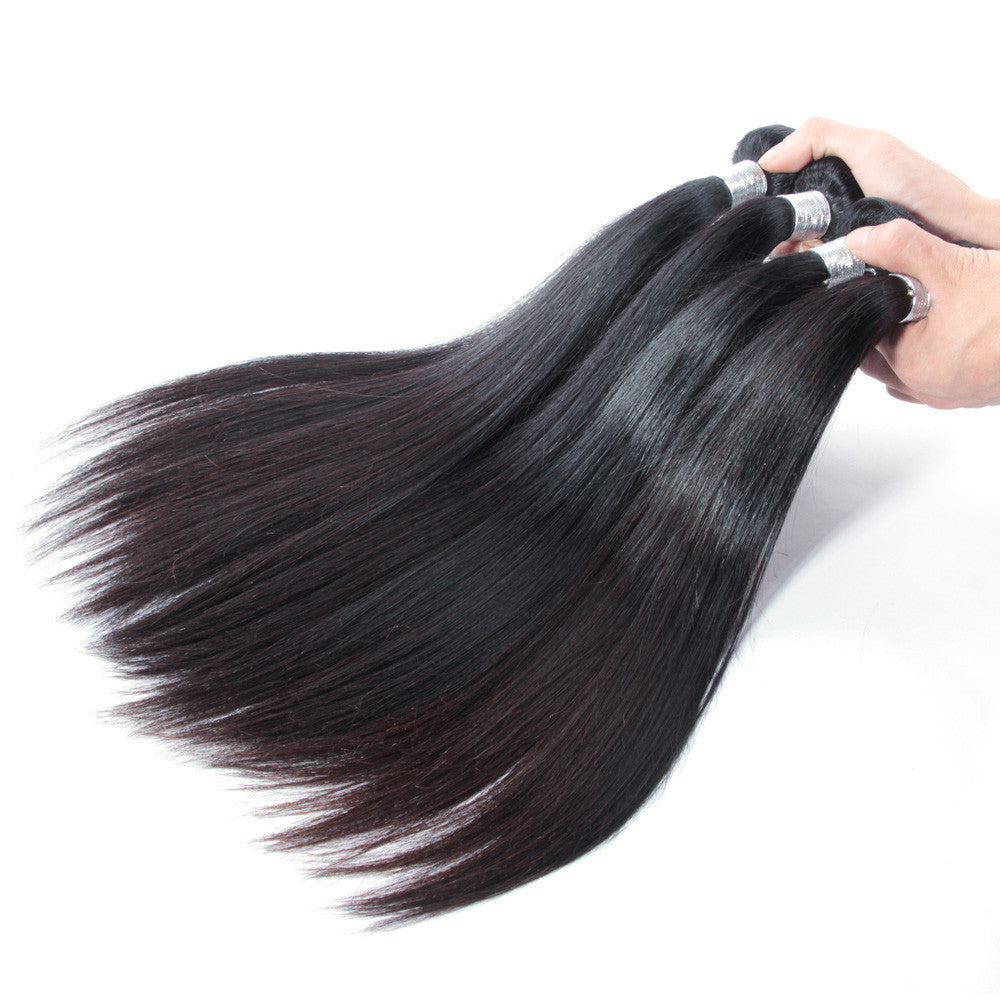 4Bundles unprocessed virgin peruvian hair straight natural color high quality