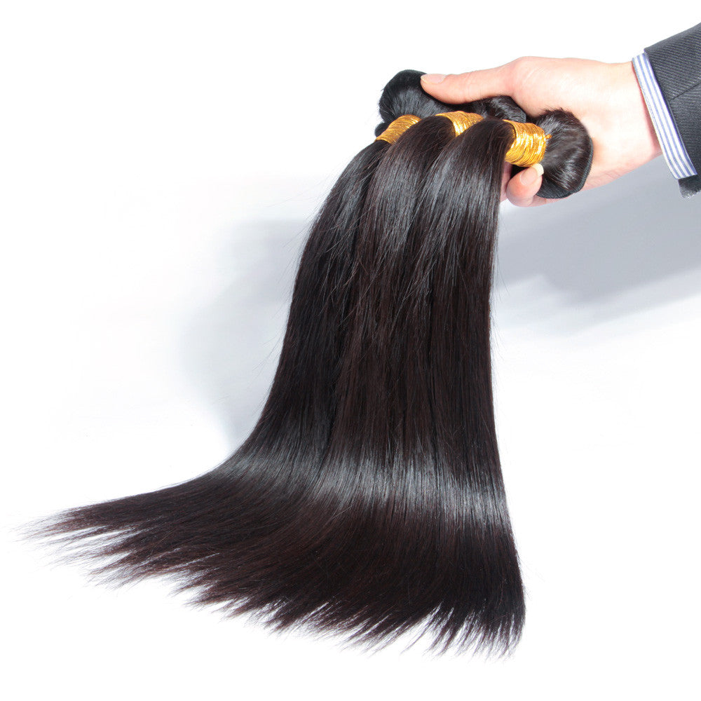 3 bundles unprocessed human virgin hair straight brazilian/peruvian/malaysian
