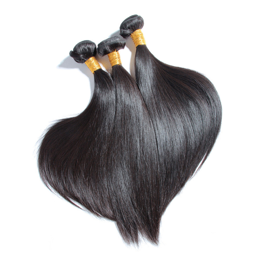 4Bundles straight brazilian virgin hair weave Karida human hair