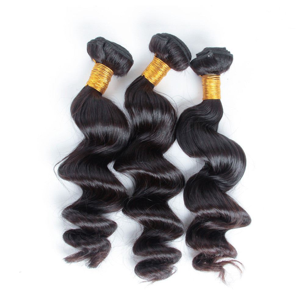3bundles/Lot Loose wave brazilian human virgin hair brazilian hair bundles