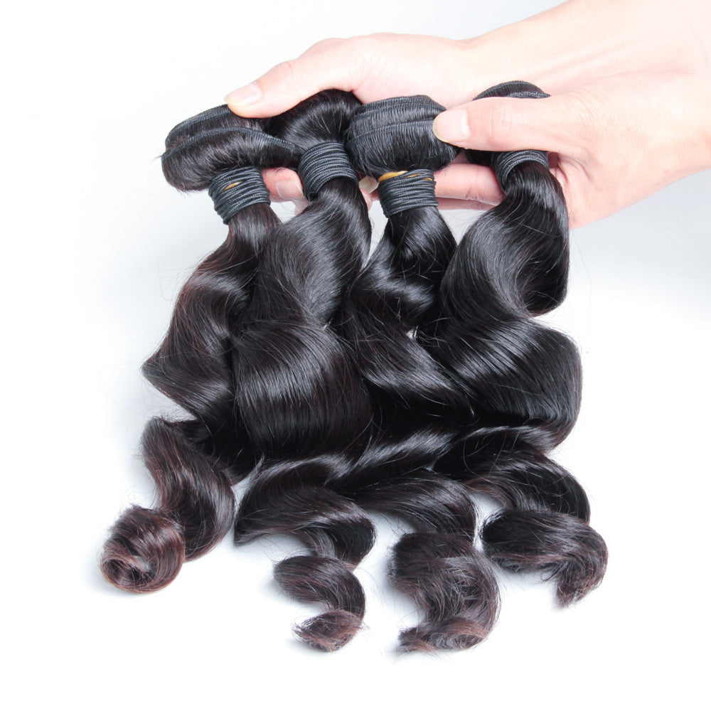 4Bundles unprocessed virgin malaysian loose wave hair weave Karida