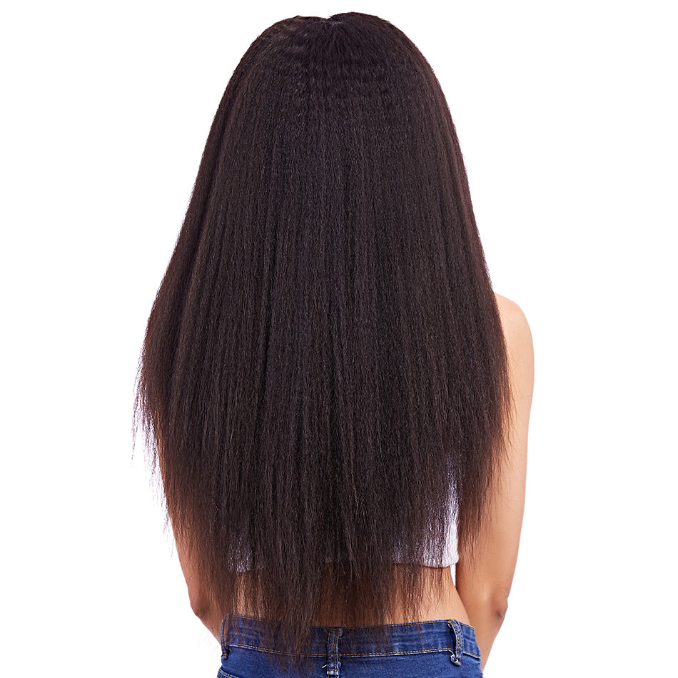 Kinky straight full lace wigs human virgin hair natural color unprocessed hair wigs