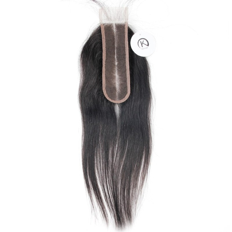 Lace closure straight hair 2x6inch human virgin hair closure swiss lace natural color