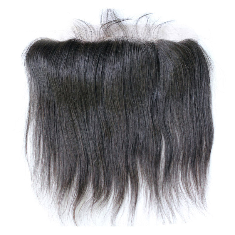 Lace frontal 13x4inch brazilian straight virgin hair frontal pre-plucked 8-22inch