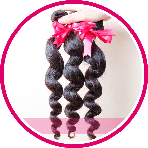 3 Bundles loose wave brazilian remy cheap human hair weft free shipping 10-26