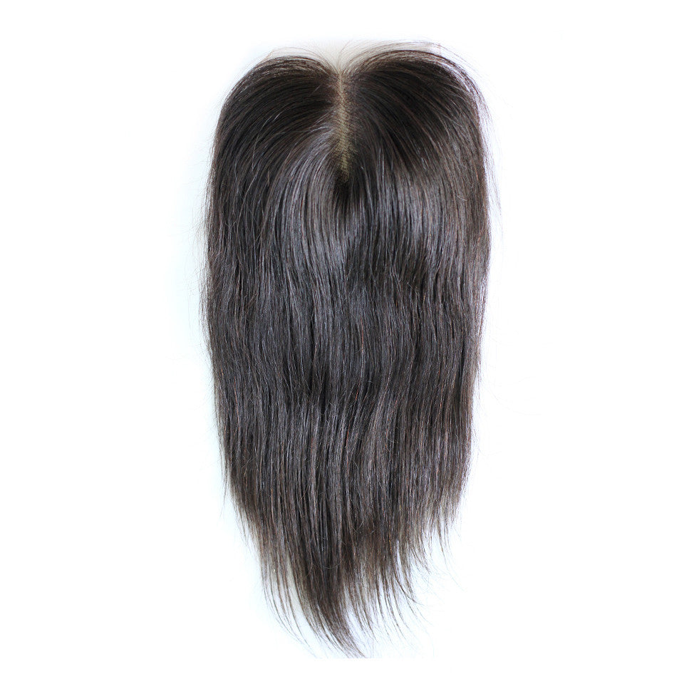 Straight lace closure human virgin hair swiss lace natural color 4*4 closure transparent