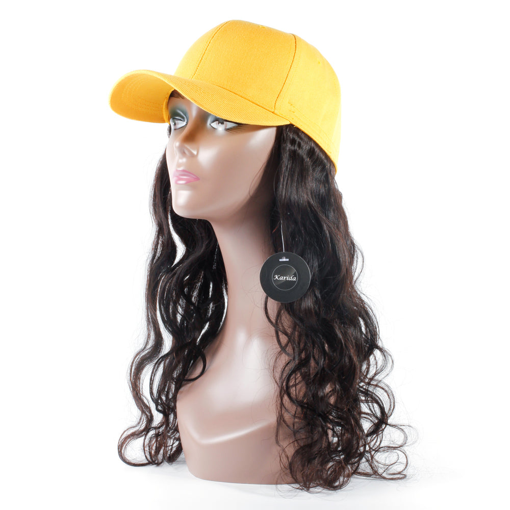 Peaked cap custom wig body wave human virgin hair wig Karida hair free shipping