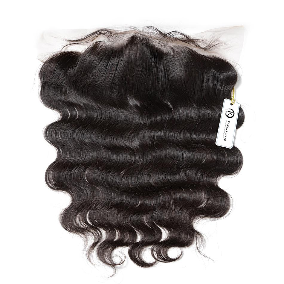 Premium 13x4 lace frontal body wave virgin hair natural hair line with baby hair