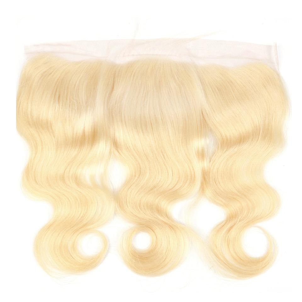 Premium blonde frontal body wave 613 color 13x4inch lace frontal blonde human hair