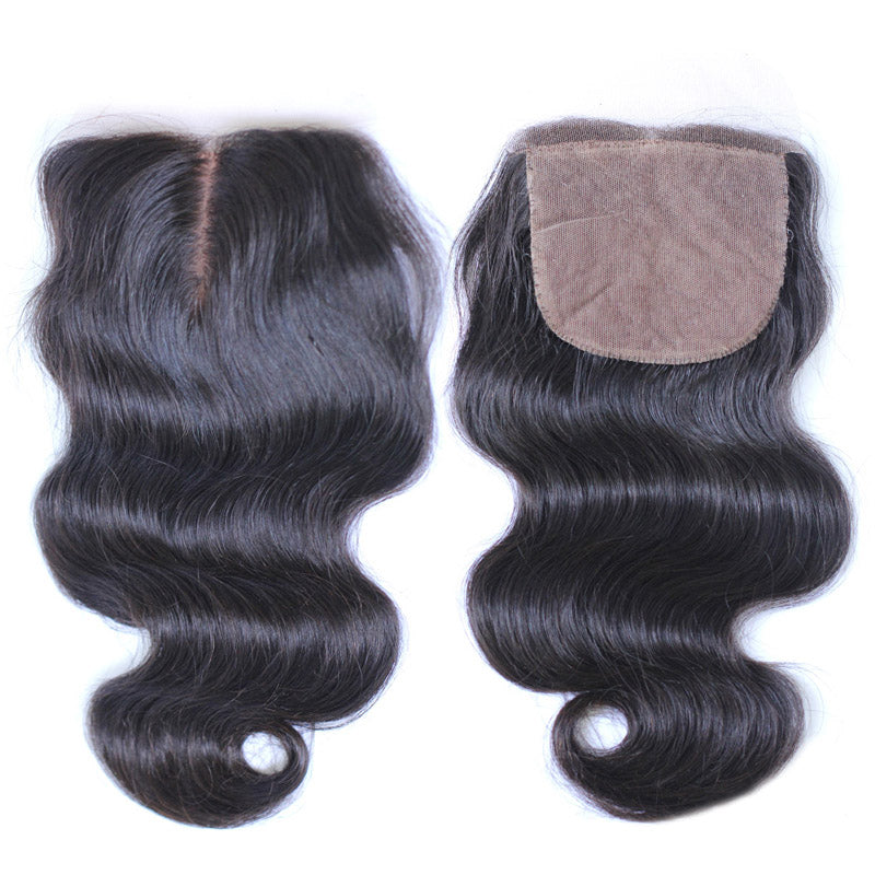 Silk base closure body wave premium Karida hair 4x4inch swiss lace closure