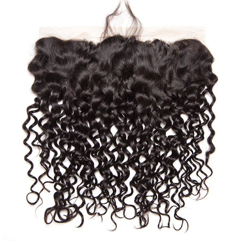 Water wave lace frontal virgin human hair lace frontal closure pre plucked frontal
