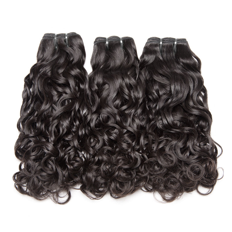 3 Bundles beautiful water wave brazilian hair new arrvial wet and wavy human hair