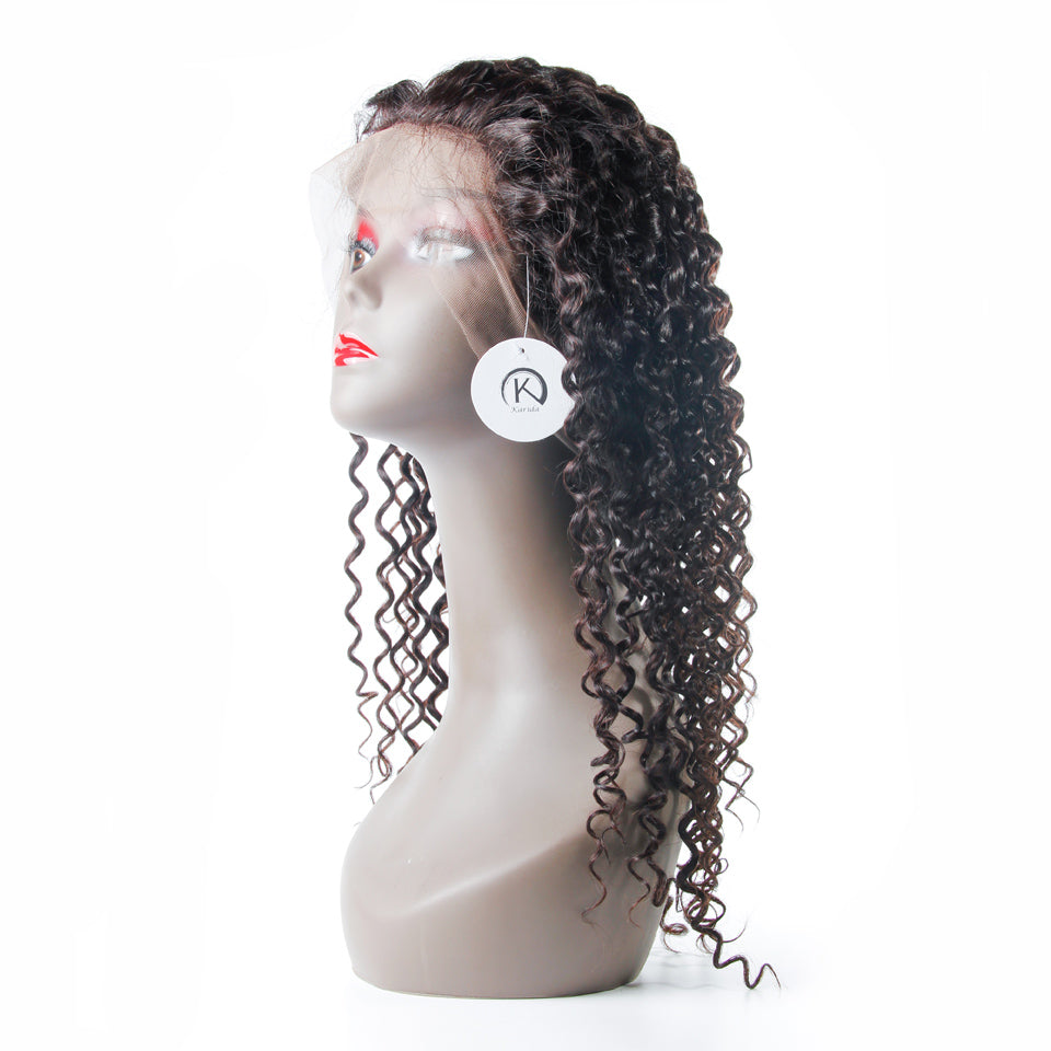 Curly hair 360 lace wig premium human hair swiss lace cuticle aligned wigs