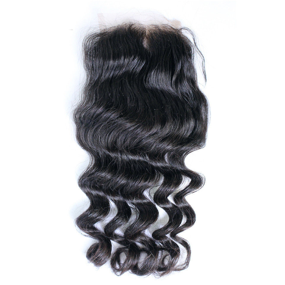 Natural wave lace closure wholesale price brazilian virgin hair transparent lace