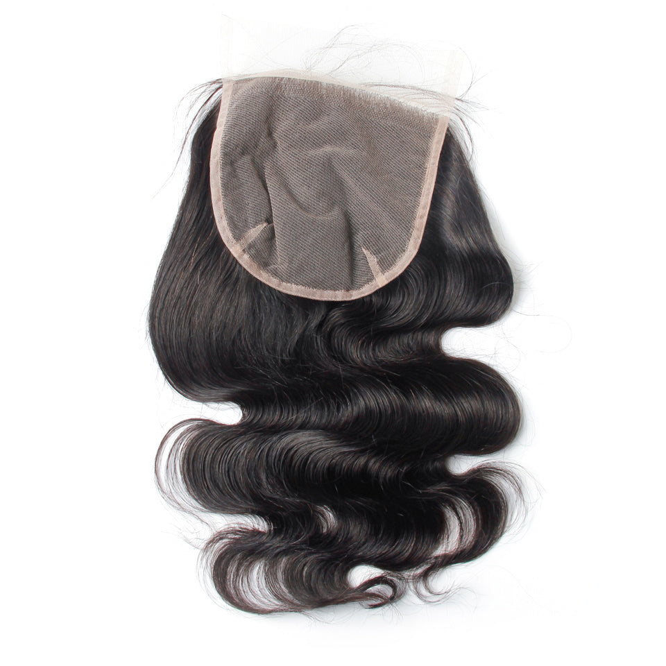 Virgin human hair lace closure 6×6 body wave brazilian lace closure cuticle aligned