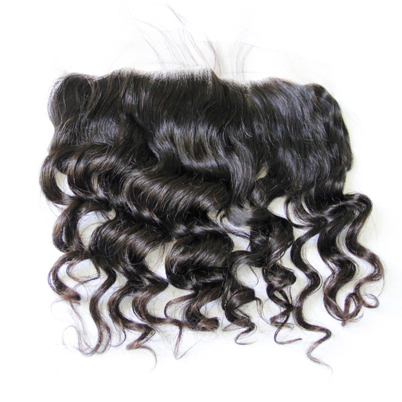 Natural wave lace frontal closure natural hair line with baby hair hand-tied frontal