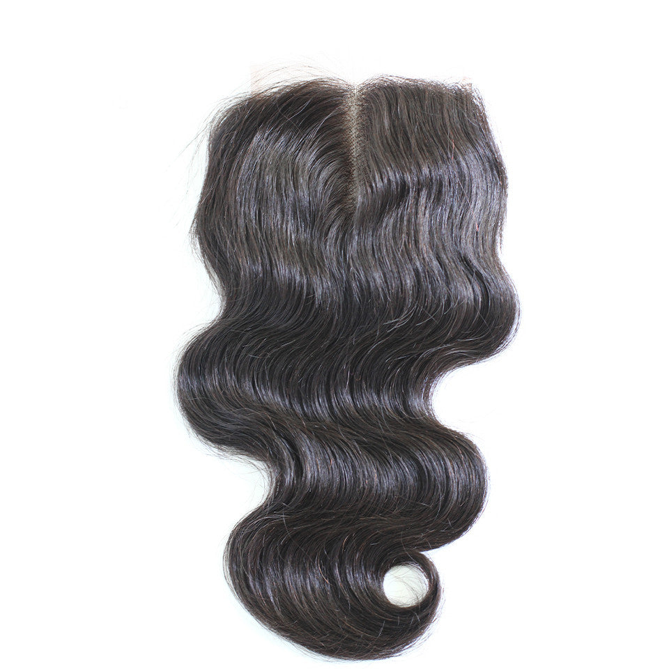 Lace closure body wave 4*4inch 8-22inch cuticle aligned hair transparent closure