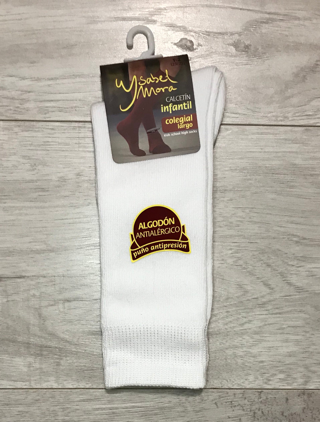 White Knee High Socks UK 6-10
