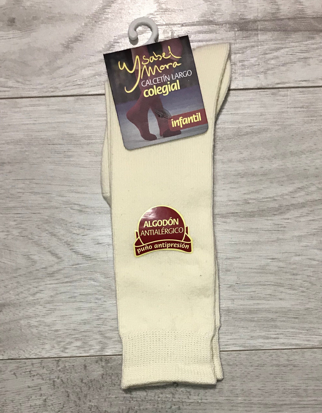 Cream Knee High Socks UK 6-10