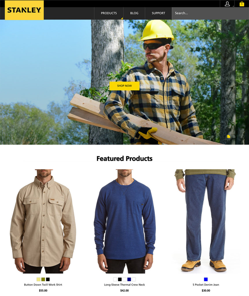 Tweaking Kagami Theme for Stanley Work Wear Shopify Store