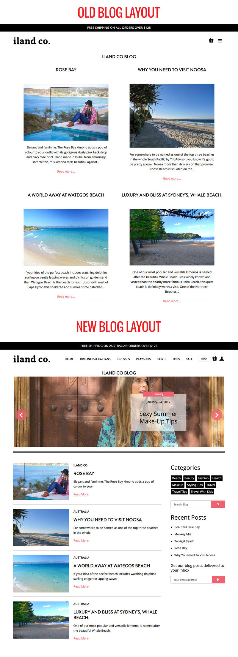 Shopify Blog Layout Case Study