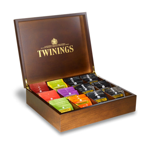 Twinings 12 Compartment Wooden Box